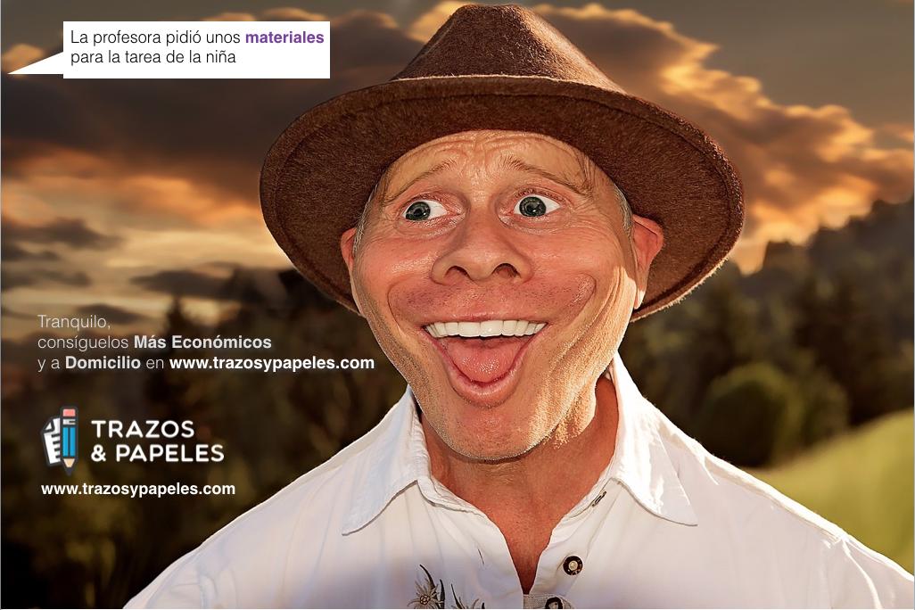 Publicidad www.trazosypapeles.com campaña Caras - Papelería Online
