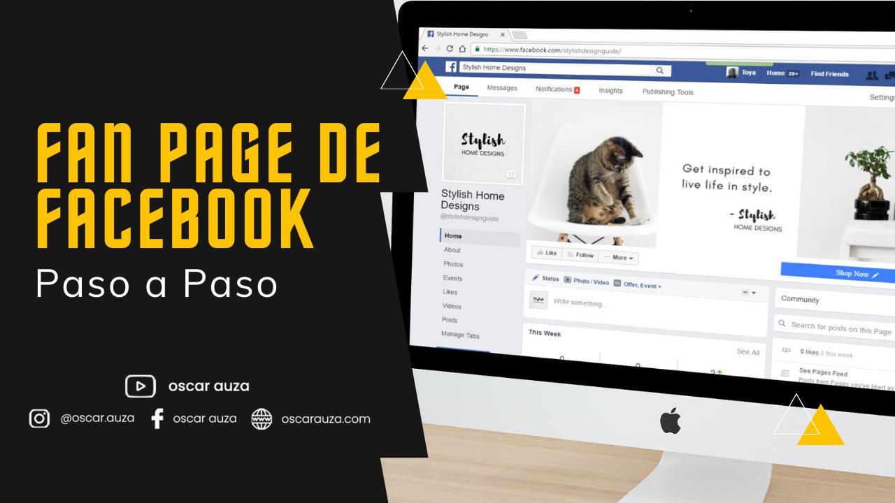 Fan Page de Facebok paso a paso